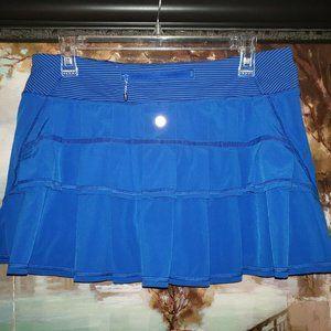Lululemon Pace Setter Skirt Blue striped skort 10